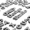 Alfabeto concreto molde de silicone cimento letras maiúsculas número símbolo molde diy artesanal decoração para casa ferramenta