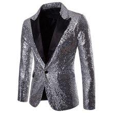 LASPERAL Otoño de moda de los hombres de alta calidad de corte Slim ropa para  hombres de lentejuelas de club nocturno caliente c. bd99aa49be55