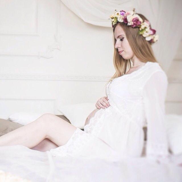 Moda Mãe Vestido De Ver Através de Vestidos de Chiffon de Maternidade Camisola Mulheres Grávidas Vestido de Maternidade Fotografia Prop Foto Tiro
