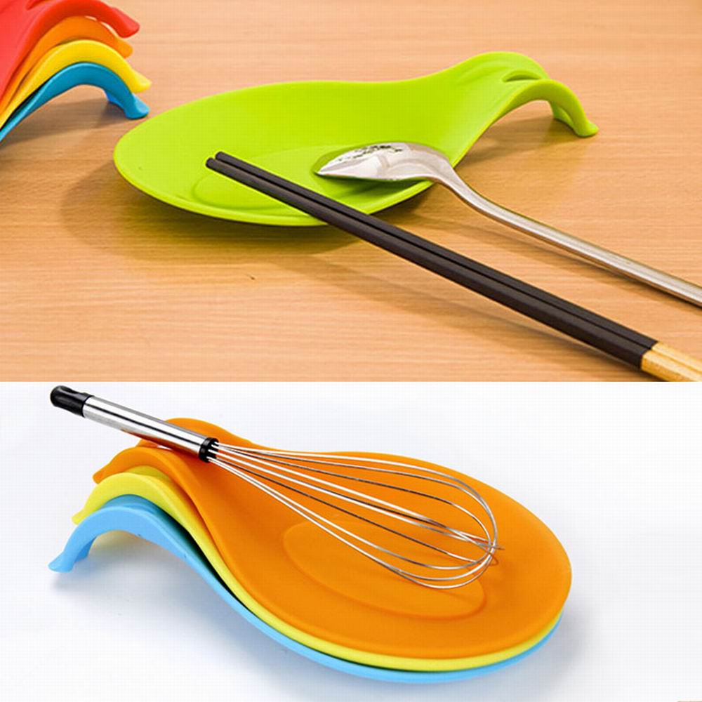 Silicone Insulation Spoon Rest Heat Resistant Placemat Drink Glass Coaster Tray Spoon Pad Eat Mat Pot Holder Kitchen Accessories|Spoon Rests & Pot Clips| |  - title=