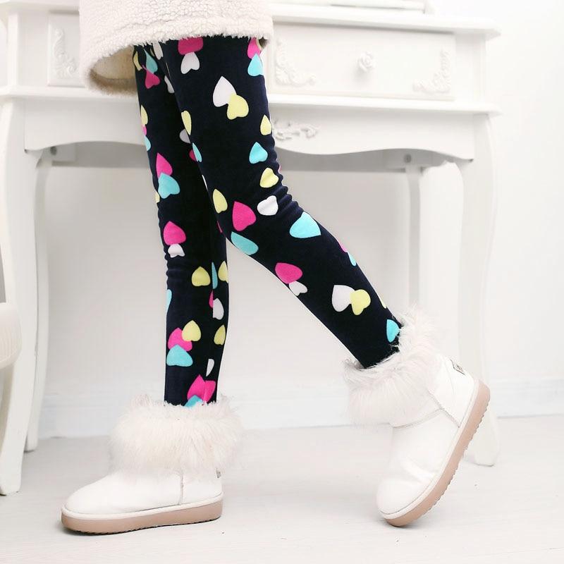 Детские штаны, осенне-зимние леггинсы для малышей, штаны для девочек с разноцветным принтом в виде цветов и бабочек - Цвет: 13