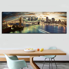 Modular Hang Pictures 1 Pcs New York Brooklyn Bridge Brand Canvas Painting Prints Classic Wall Art Baby Room Decor Home Poster