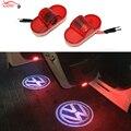 2 x led car porta bem-vindo a luz do laser emblema logotipo projetor para volkswagen vw golf 4 touran caddy besouro