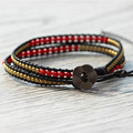 New Arrival 2X  Wrap Bracelets,Red Glass Beaded Double Row Copper Wrap Bracelet,Boho Wrap Bracelets  Wholesale Wrap Bracelets