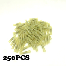 250pcs BHT5  12-10AWG Insulated Heat Shrink Butt Connectors Wire Electrical Crimp Terminals Kit