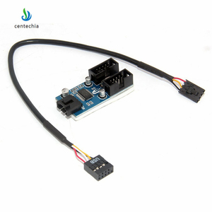 Image 3 - Centechia 1 sztuk płyta główna USB 2.0 9Pin 1 do 4 przedłużenie rozgałęźnika PCB Chipset obudowa PC wewnętrzny ulepszony przedłużacz gadżet JSX