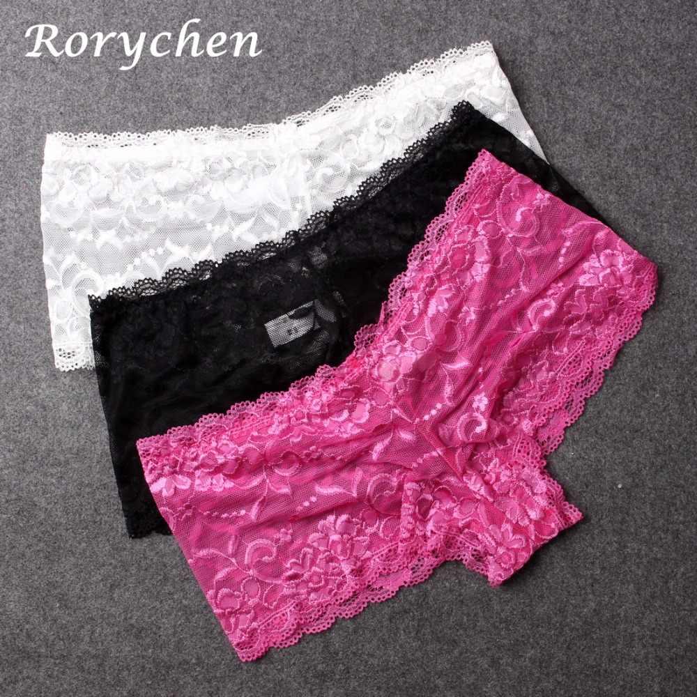 4d2b191d25e New Lace Boy Short Panties Women Underwear Shorts Boxer Soft Knickers  Underpants plus size Lingerie 5XL