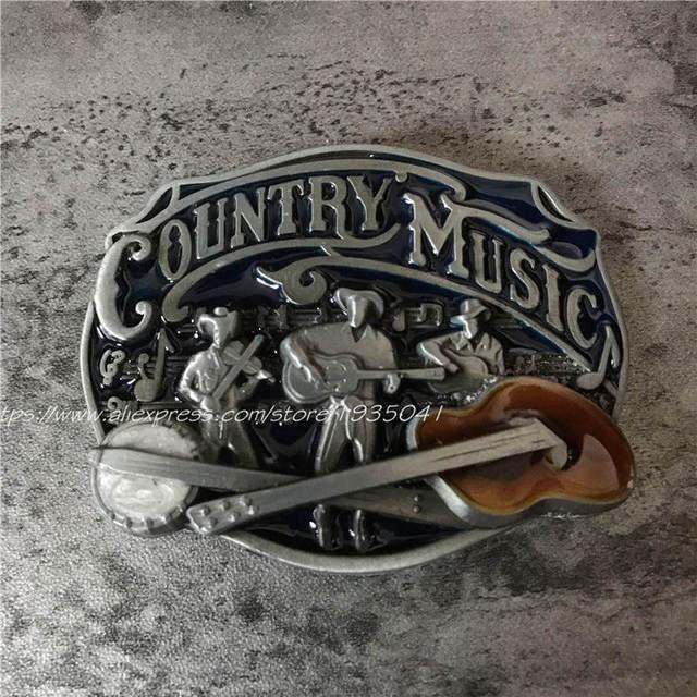 Good Quality Country Music Metal Belt Buckle Fashion Alphabet Guitar Rock Buckles Fit 4cm Wide Belt Men,Women Jeans accessories