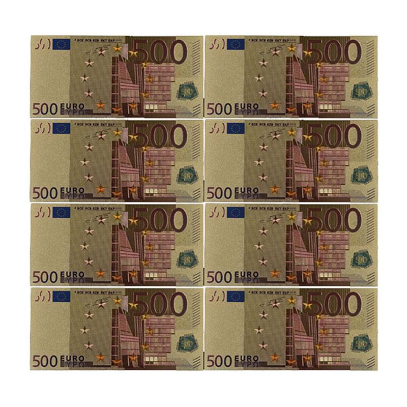 Renkli Euro banknot 5 adet/grup 500 EUR altın folyo banknot toplama ve hediyeler ab para zarif zanaat