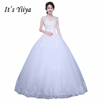 Free Shipping Vestidos De Novia Plus Size V Neck White Strapless Sequins Wedding Dresses Princess Lace