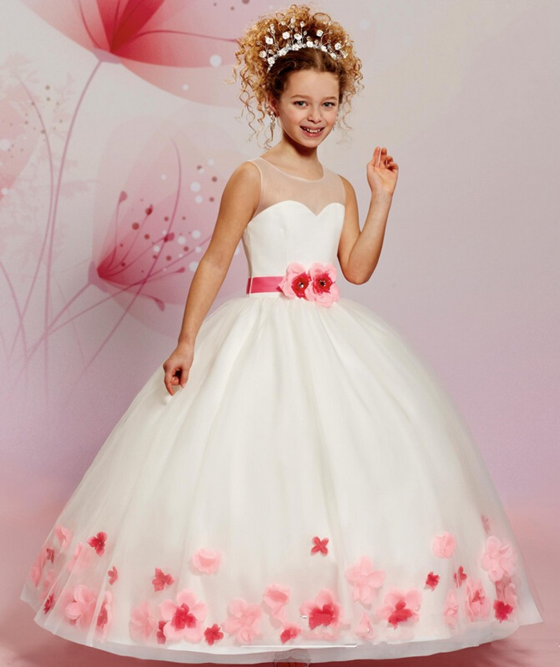 2015 New Design Flower Girls Dresses For Wedding Vestido De Festa De ...