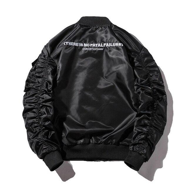 Winter Bomber Jacket Men Air Force Pilot Jacket Male Solid Letter Embroidery Baseball Jacket Couple Hip Hop Streetwear Autumn