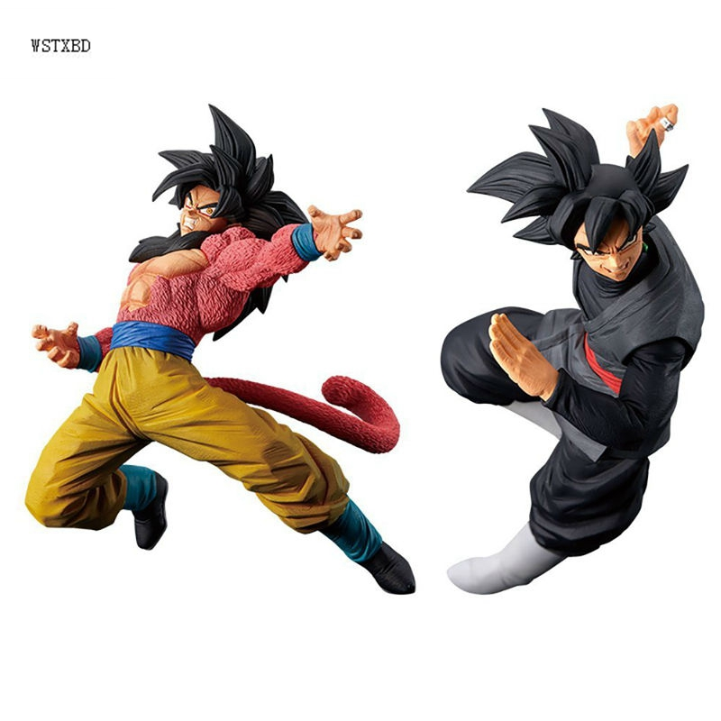 WSTXBD BANPRESTO Original Dragon Ball Z DBZ FES Fighting Black Rose Goku SSJ4 Goku Action Figure Toys Figurals Dolls Vol.06 wstxbd banpresto original dragon ball z dbz smsp goku manga color pvc figure toys figurals model dolls brinquedos