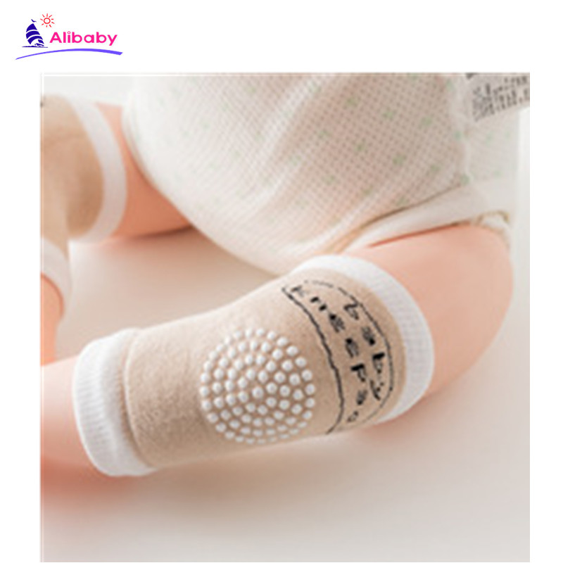 Newborn Baby Anti Slip Knee Pads Baby Socks Cotton Breathable Baby Boys Girls Leg Knees Warmers Crawling  Infant Knee Protector