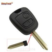Okeytech 2 кнопки силиконовый для ключа автомобиля чехол Брелок дистанционного управления ключа оболочки для Citroen C1 C3 C5 C4 Berlingo; Picasso Xsara Picasso Aygo