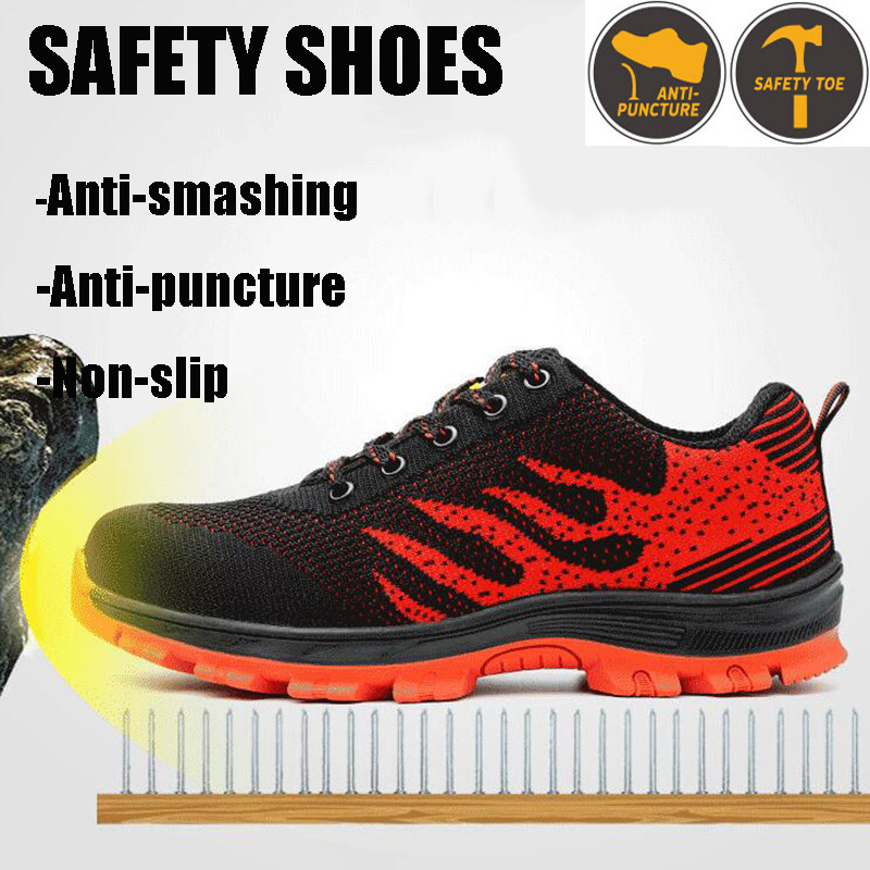 Lightweight Breathable Men Safety Shoes Steel Toe Work Shoes For Men Anti-smashing Construction Lightweight Breathable Men Safety Shoes Steel Toe Work Shoes For Men Anti-smashing Construction