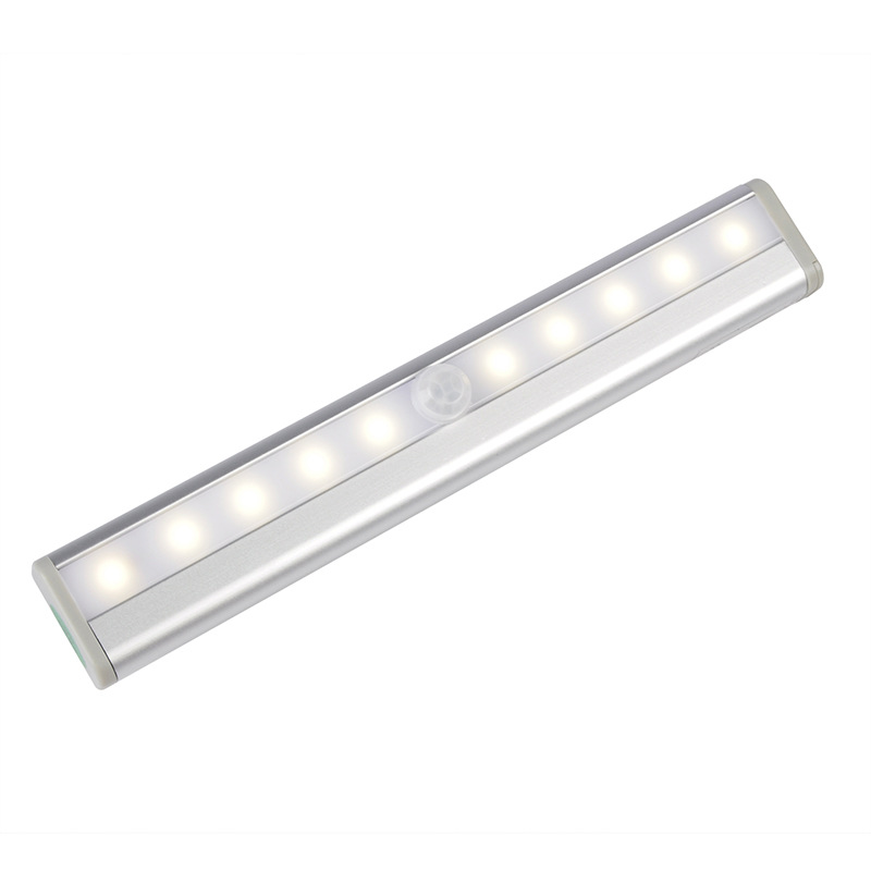 LED Cabinet Light with Motion Sensor 4 AAA Batteries Used Infrared Induction Automatic On Off Night Light ...