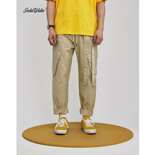 SODA WATER Cargo Pants Men Skateboard Bib Overall P