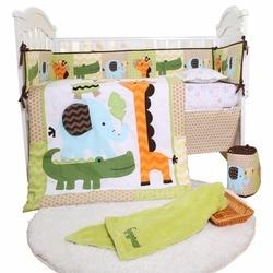 Carino nuovo prodotto prezzo competitivo del ricamo del bambino letto set di biancheria da letto culla