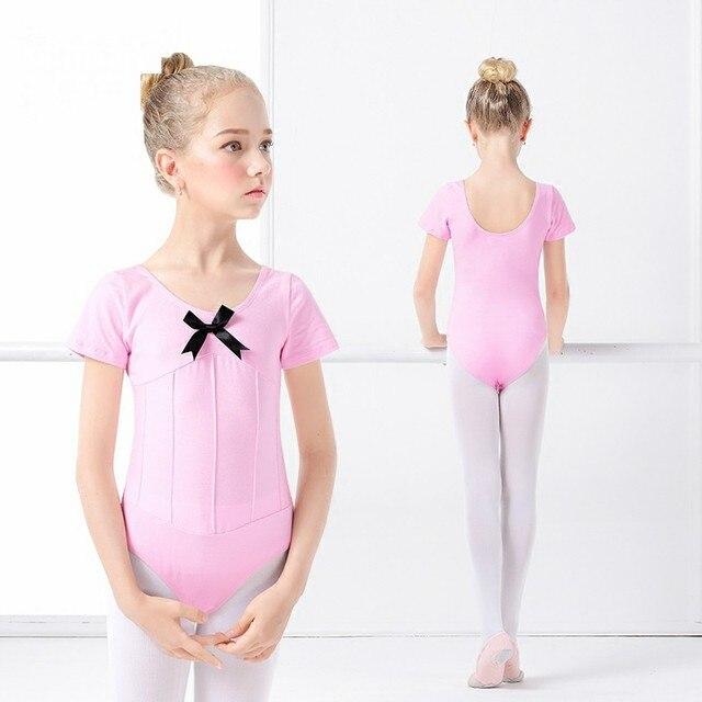 5bfdacf90 Pink Girls Ballet Leotard Ballet Dancewear Cute Basic Toddler ...