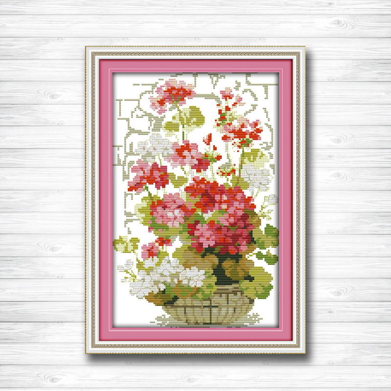 Package Arts,crafts & Sewing Lotus In Summer Flowers Patterns Counted Cross Stitch 11ct14ct Cross Stitch Set Wholesale Cross-stitch Kit Embroidery Needlework