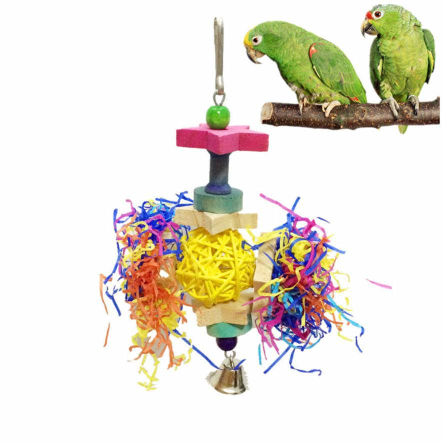 Transer New Funny Pet Birds Toy Foraging Shredder Toy for Bird Cage Hanging Bell Pet Chewing Toy Dropshipping 18Apr24