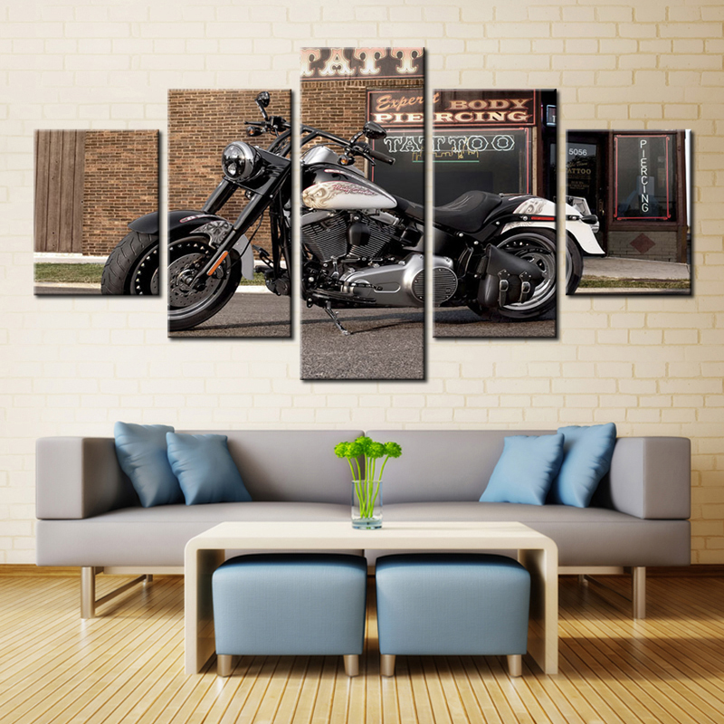 5 pcs motorcycle mosaic painting 5d diamond painting cross stitch full square pasted diy diamond embroidery landscape home decor
