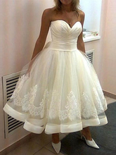 Vintage Tea Length Mother of the Bride Dress Sweetheart Cheap Plus Size Dresses vestido de madrinha