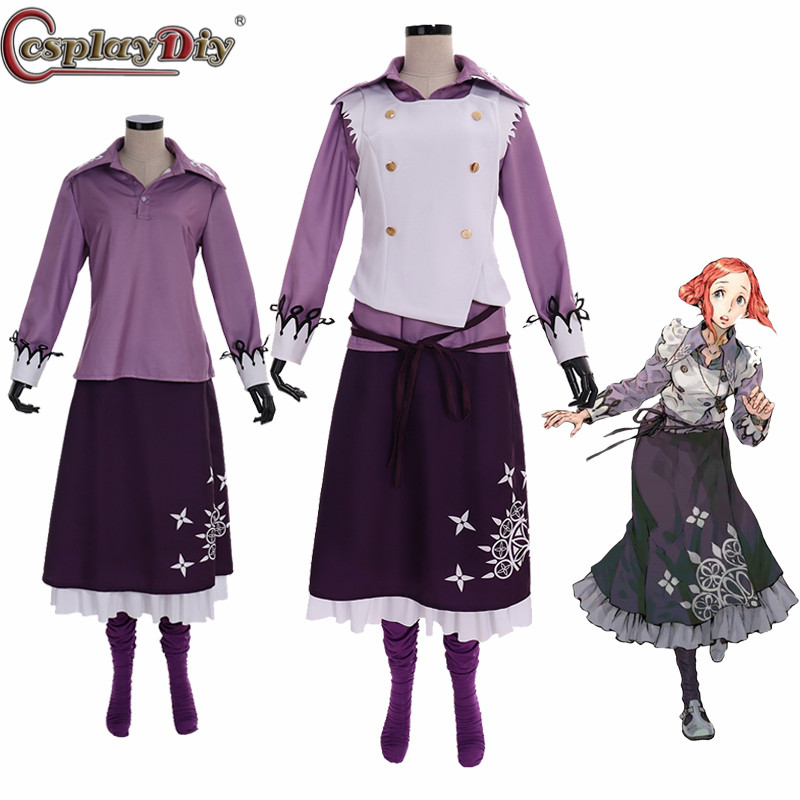 Cosplaydiy Zero Escape Cosplay Extremely Escape Luna Costume Adult Women Halloween Skirt Suits Full Outfits Custom Made