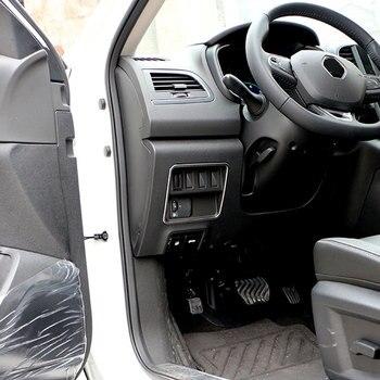 Kleur Mijn Leven Auto Chrome Koplampen Schakelaar Bescherming Cirkel Trim Cover Sticker voor Renault Koleos voor Samsung QM6 LHD 2017 2018