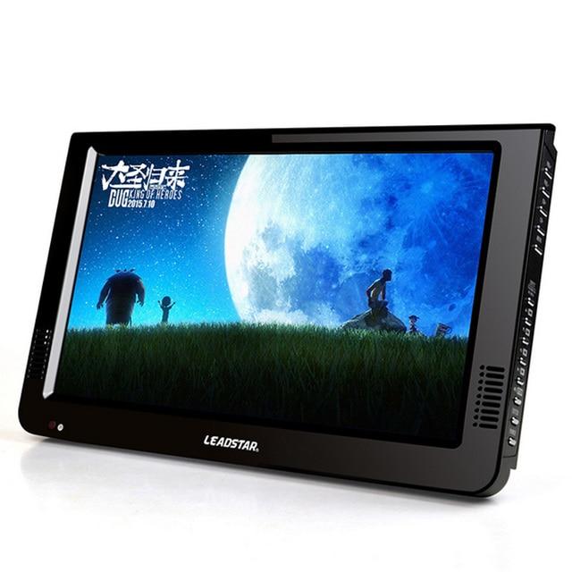 10.2 дюймов DVB-T2/Нормальная Версия HD LED Портативный ТВ Медиа-Плеер, поддержка Ввода VGA, с USB и SD Видео MOV, MKV, AVI,