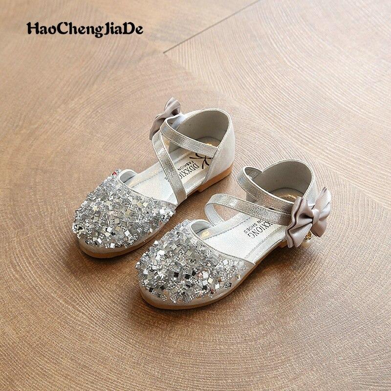 2018 Jauni bērni Princess Glitter Sandals Bērni Meitenes Mīkstās - Bērnu apavi
