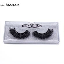 Luxury 3D Mink Fur False Eyelashes Extension High quality Strip Lashes Full Plastic Cotton Stalk Eyelash 1 Pair Package