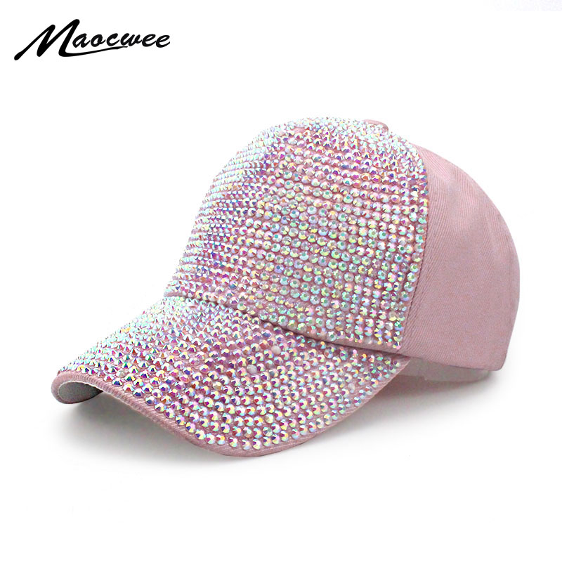 High Quality WOMEN brand baseball cap new fashion rhinestone crystal denim snapback caps wholesale woman hip hop snapbacks hats cntang brand summer lace hat cotton baseball cap for women breathable mesh girls snapback hip hop fashion female caps adjustable