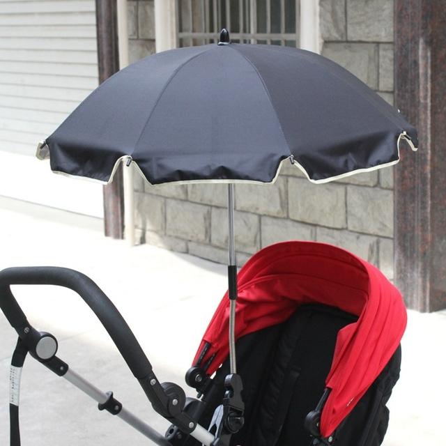 Top Calidad Del Cochecito de Bebé Paraguas Plegable Ajustable Sombrilla Impermeable Color Sólido Fortalecer Cochecitos Para Niños Accesorios