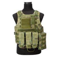Ngụy trang Săn Chiến Thuật Quân Sự Vest trò chơi Chiến Tranh Cơ Thể Molle Armor Hunting Vest CS Thiết Bị Ngoài Trời với 5 Màu Sắc