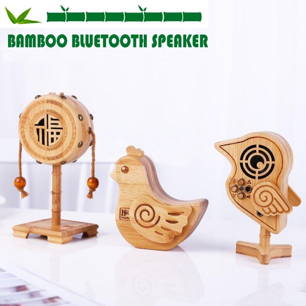 Высококачественный креативный бамбуковый мультяшный динамик, воспроизведение звука Bluetooth, поддержка звонков без рук