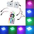 T10 5050 smd 21 цветов пульт дистанционного управления красочные rgb интерьера автомобиля led 12 В лампы smd led чтение купол карта лампы авто 12 В авто