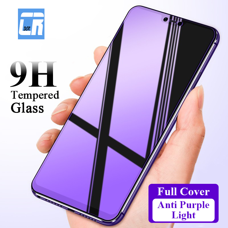 2.5D Anti Purple Full Cover Protective Tempered Glass for OPPO R17 R15 R15X Screen Protector Phone Film for OPPO F7 A1 A5 A3