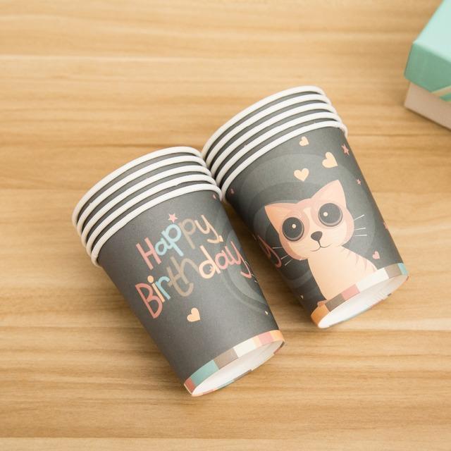 Cat Patterned Cups 10 pcs/lot