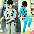 Kids Clothing Sets  for Girls Panda Sets Children Autumn Clothes Casual Tops+Pants Suits Vestido Infant Cartoon Tracksuits 12 14