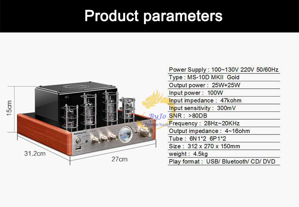 Image 2 - Nobsound MS 10D MKII MS 10D MKIII Tube Amplifier audio Power Vaccum Tube Amplifier Bluetooth amplifier 110V or 220Vtube amplifierstereo power amplifiernobsound ms-10d mkii -