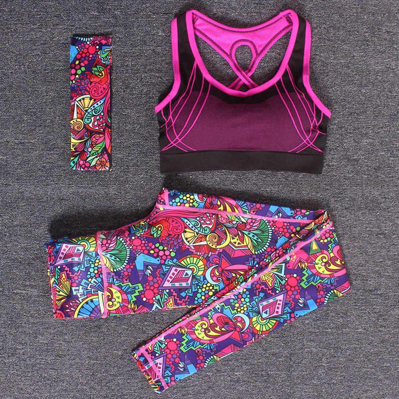 Conjunto de 2 piezas de ropa deportiva para mujer, conjunto de Yoga para correr, ropa de entrenamiento, conjuntos de sujetador y Leggings deportivos para ropa de gimnasia para mujer, traje