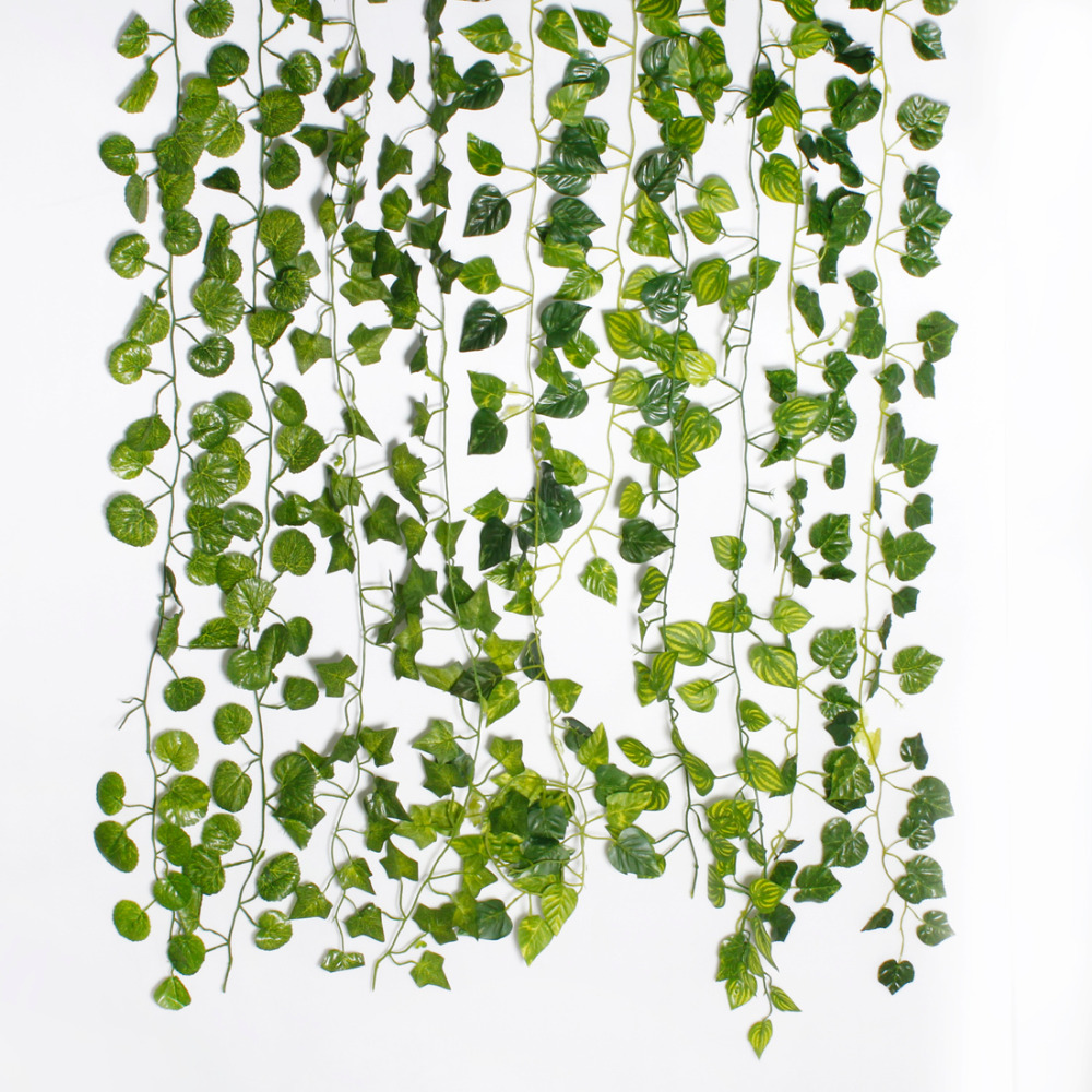 2pcs artificial ivy leaf garland plants vine foliage for Decoration leaves
