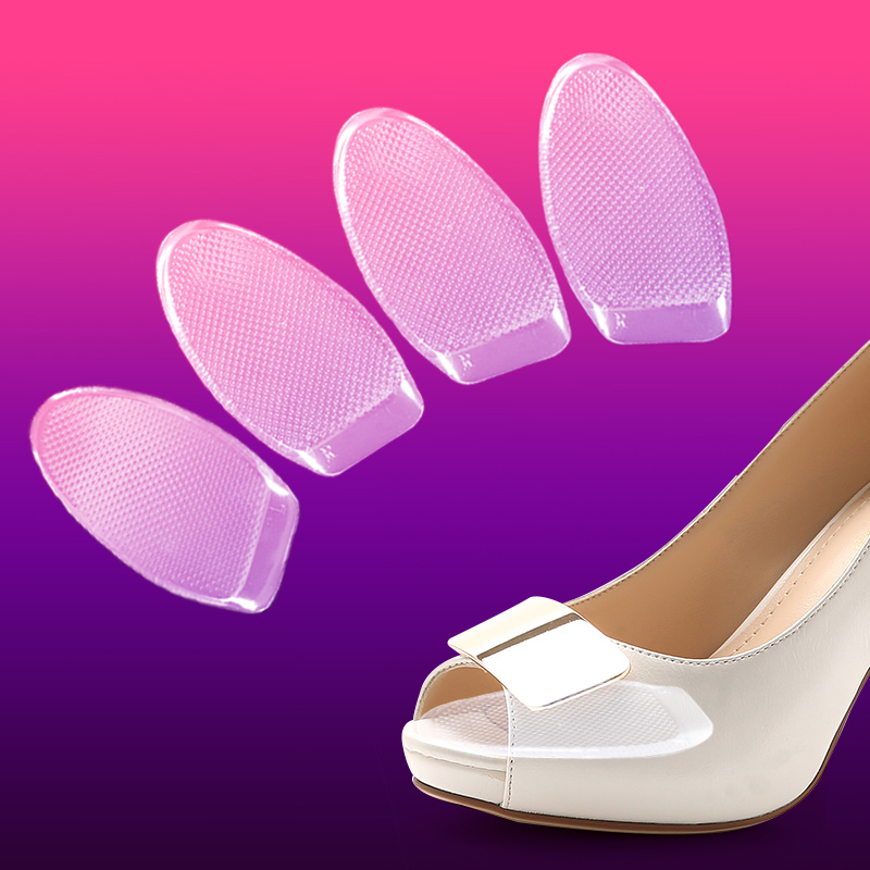 2016 New one pair 5mm transparency silicone gel forefoot pad for lady high heel shoes feet cushion relief foot pain half sole one pair new soft gel cushion for ladies shoes forefoot pain relief high quality metatarsal sore silica sole free shipping