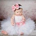Criança Meninas Fantasia Princesa Tutu Vestido Do Feriado Flor Camadas Duplas Fofo Vestido De Bebê com Headband Foto Props TS044