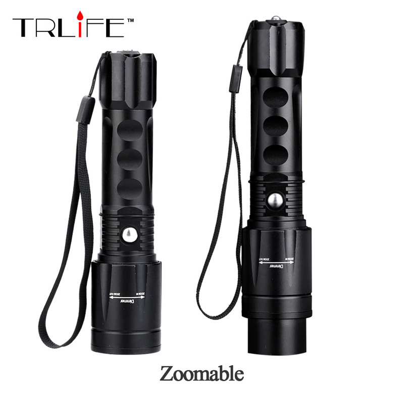 2017 New 5000 Lumens Tactical Flashlight LED CREE XM-L T6 Zoomable Focus Torch Light Lamp for  3*AAA or 1*18650 Hunting Camping cree xm l t6 bicycle light 6000lumens bike light 7modes torch zoomable led flashlight 18650 battery charger bicycle clip