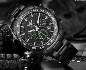 Image 5 - Yelang Men Kinetic Watch Solar Power Drive Tritium Light T100 Japan Movement WR100M Sapphire Date Energy Display Military Quartz