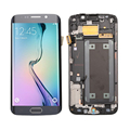 gold white blue LCD display touch screen digitizer full Assembly with frame repair parts for Samsung Galaxy S6 edge G925I G925F