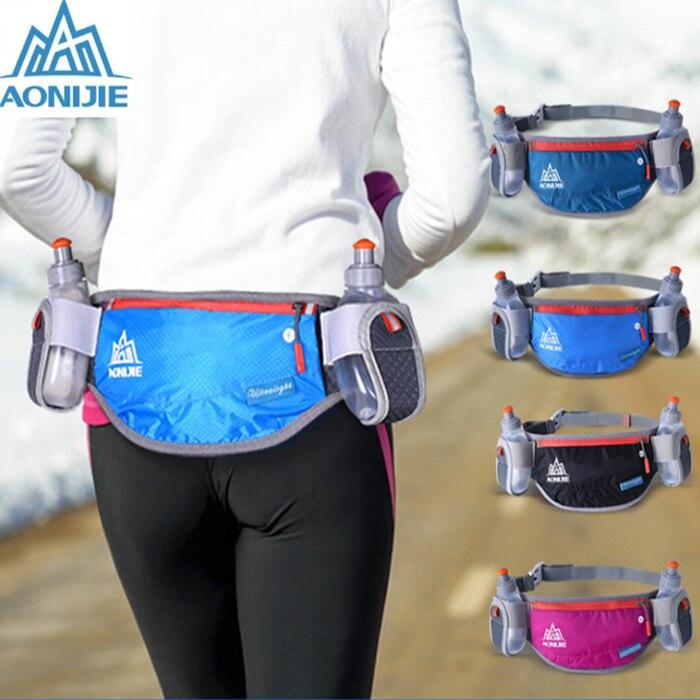 Prix pour AONIJIE Hommes Femmes Léger Sac de Taille En Plein Air Sport Fanny Pack Voyage Marathon Hydratation Ceinture Bouteille Sac
